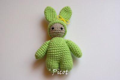 Picot - Szydełkowe Inspiracje: Szydełkowy królik i pierwsza skarpeta