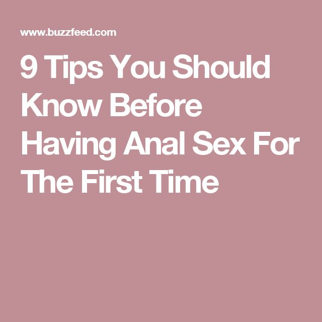 first time anal sex guide