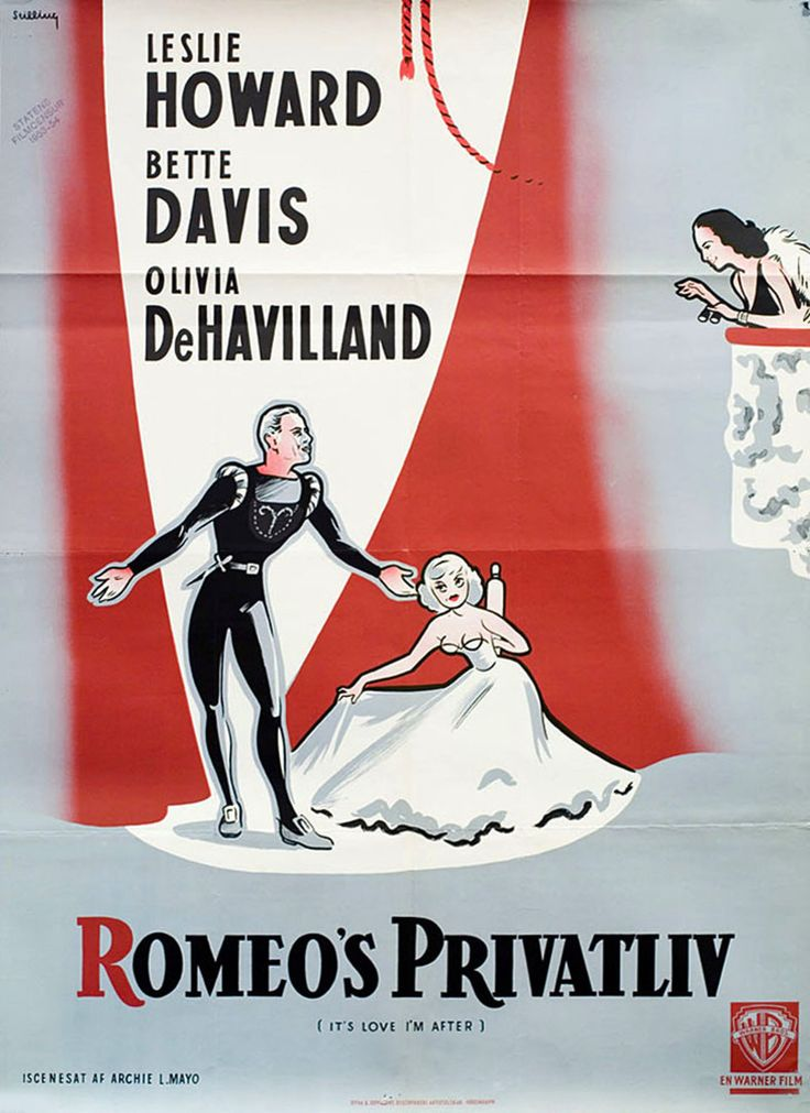 It's Love I'm After 1937 Swedish A1 Poster