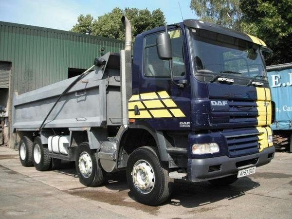 DAF CF85.360 8x4 Tipper Diesel - http://tractorsforsales.com/daf-cf85-360-8x4-tipper-diesel-2/