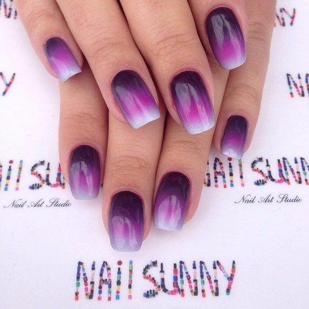 Beautiful nails 2016, Bright summer nails, Dark purple nails, Fashion…
