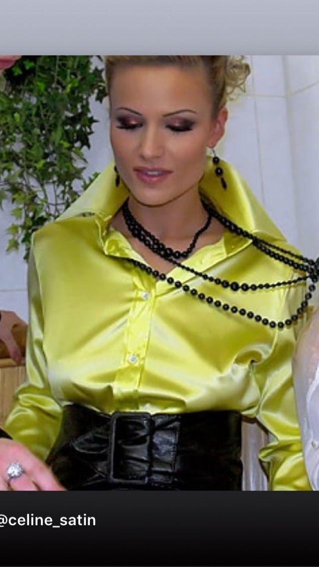 fcf929d416fd8 Pin by jen parkin on satin silk blouse in 2019