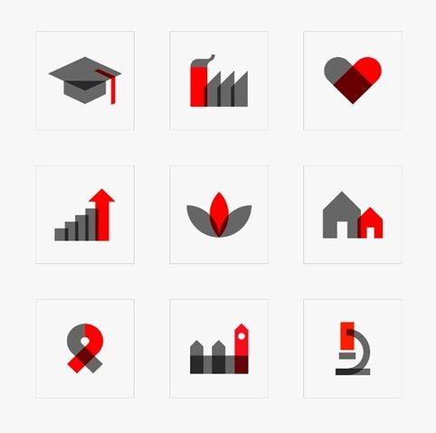 Design Council website designed by @numiko ... iconography