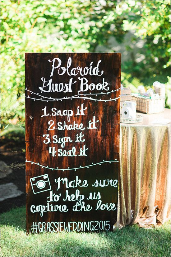 #Polaroid wedding guestbook ideas #weddingsigns #guestbookideas @weddingchicks