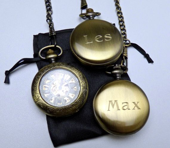 Custom Engraving service for Pocket Watches - Add on with watch purchase only - For solid backs only