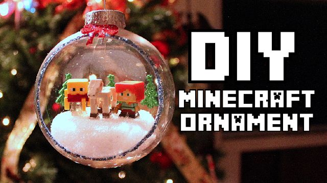 how to make christmas decorations in minecraft