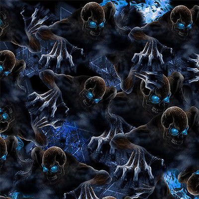 Hydrographic Film - Blue Eye Skull * 11 sqft *  Water Transfer Printing Film