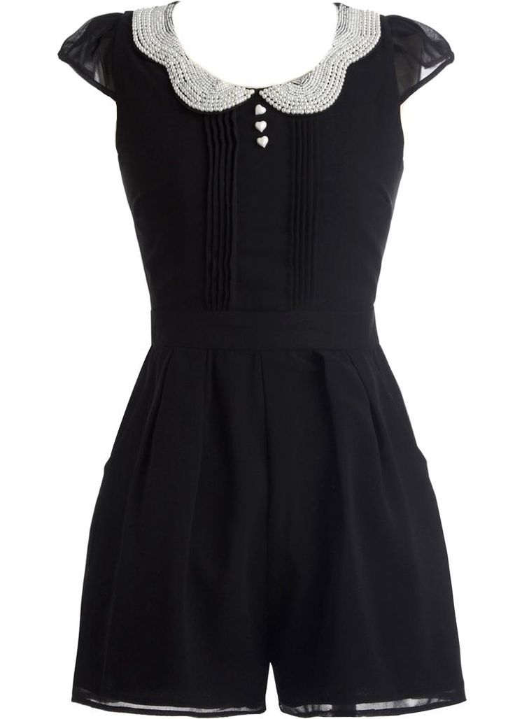 Embellished Collar Romper. I adore this romper! I need 50 repins to win a Rickety Rack dress!!!! Help a doll out! #win     #giveaway @Rickety Rack