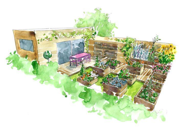 les 50 meilleures images propos de jardin sur pinterest jardins plates bandes sur lev es et. Black Bedroom Furniture Sets. Home Design Ideas