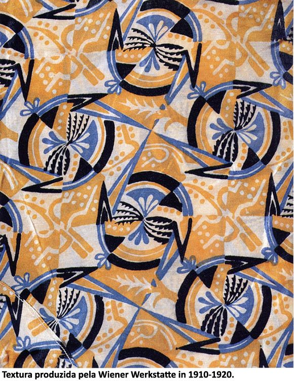 Textile design produced by the Wiener Werkstatte in 1910.