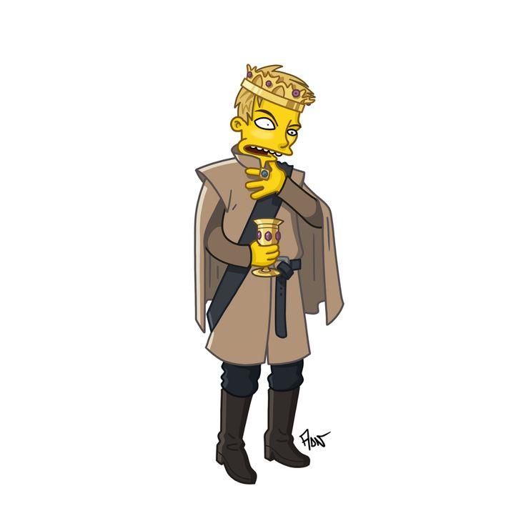 "Joffrey / ""Game Of Thrones"" / Simpsonized by ADN"