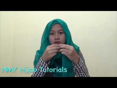 Easy Hijab Tutorials Style Of Square Paris For Daily At Work - YouTube
