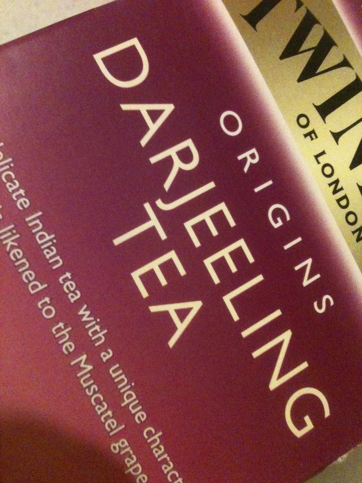 Darjeeling Tea...the champagne of teas, Darjeeling is my second favourite tea.