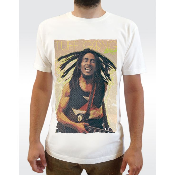 M31 BOB MARLEY T-Shirt Men's Organic Vintage Washed T-shirt - Climate Neutral® Available in 6 colours