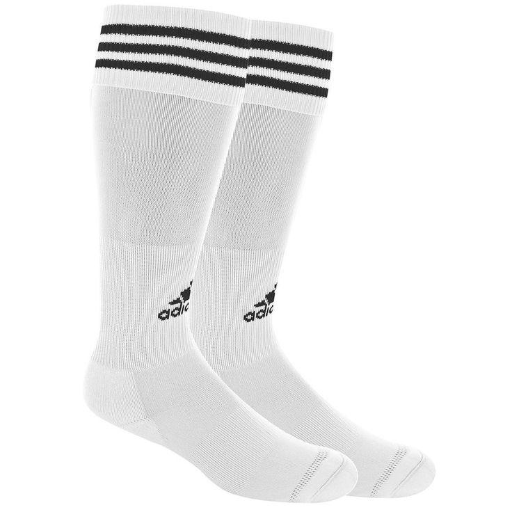 Adidas Copa Soccer Socks White Black Stripe Youth Large Fits Shoe 3 to 9 #adidas