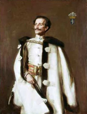 Teodor Axentowicz.  Portret Romana Potockiego