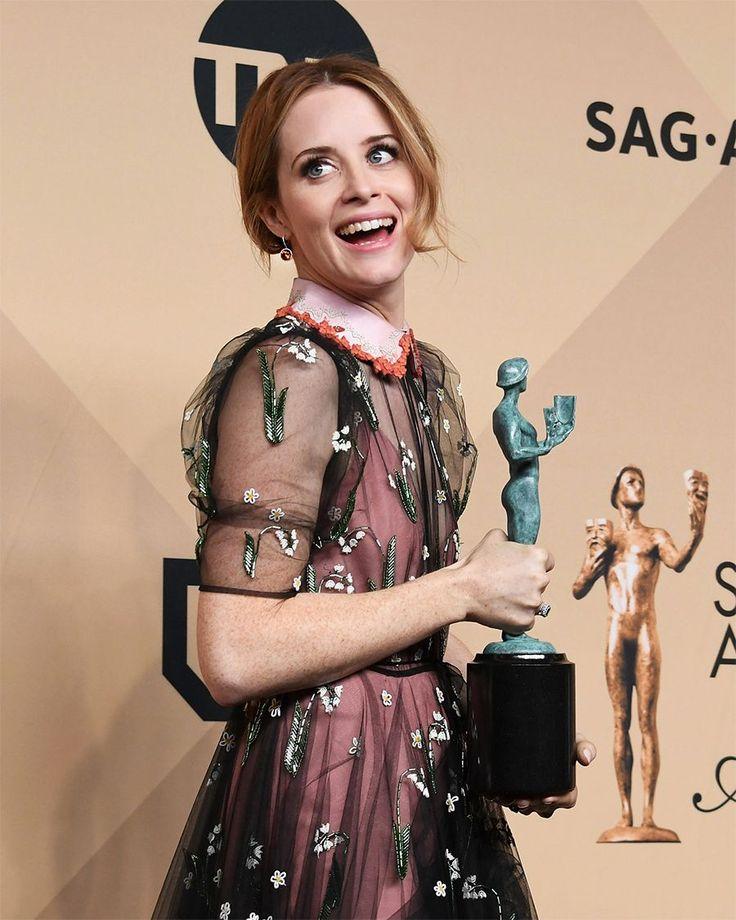 Claire Foy red carpet dei SAG Awards 2017