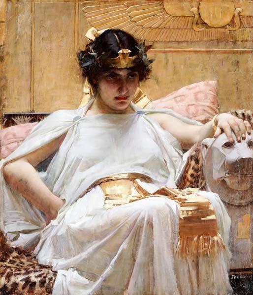Bild:  John William Waterhouse - Cleopatra