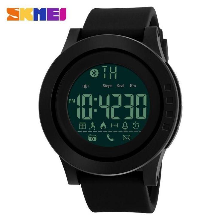 SKMEI Men Sport Smart Watches: Multi-Function Pedometer Calorie Bluetooth Digital Watch Distance Remote Camera