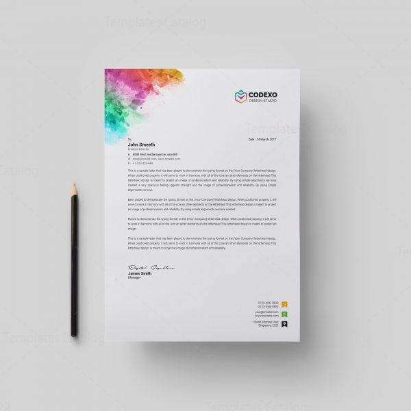 Alastor Professional Corporate Letterhead Template 001026: Artemis Modern Corporate Letterhead Template 000884