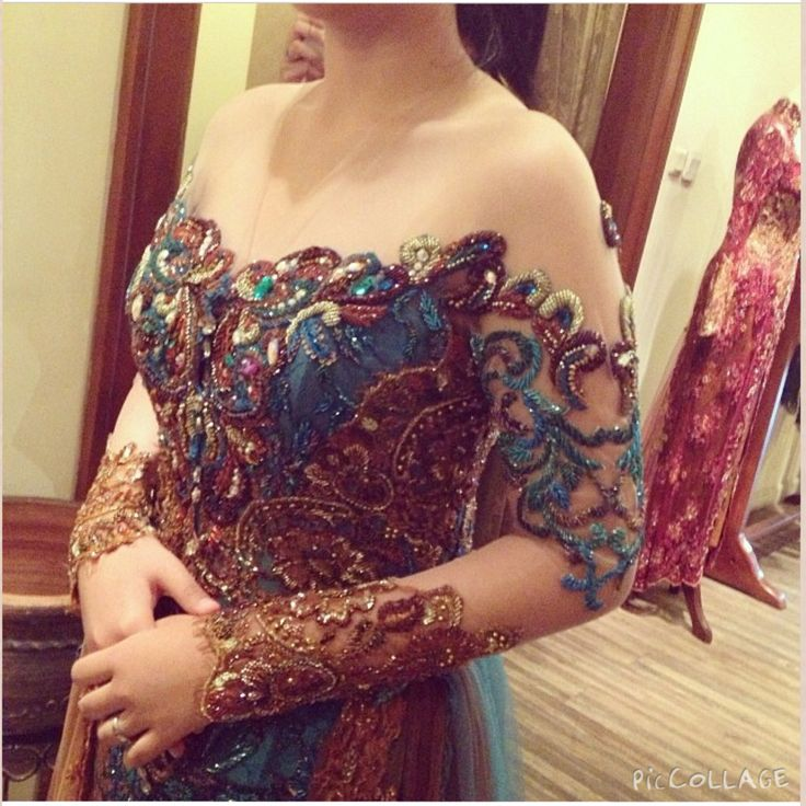 peacock inspiration #kebaya #details by Adit