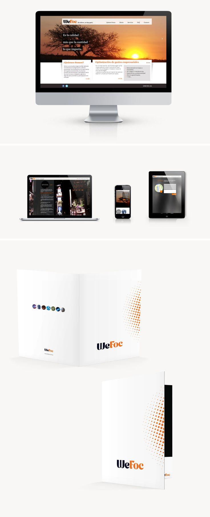 Para Wefoc aplicamos un diseño moderno y minimalista siguiendo la línea estética representada por la empresa en su imagen de marca. También seguimos completando su imagen corporativa diseñando carpetas y papelería.