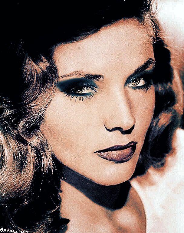 Glamorous young Lauren Bacall.