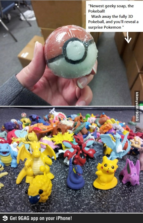 Wash your body and catch Pokemon at the same time- Want!