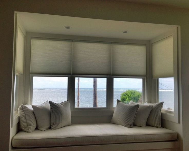 enjoy the beautiful clean lines of cordless cellular blinds complimenting the window seat in. Black Bedroom Furniture Sets. Home Design Ideas