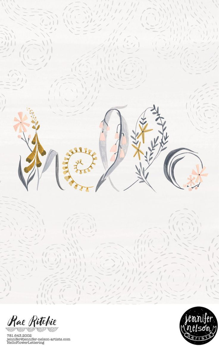 raeritchie_hello-flower-lettering