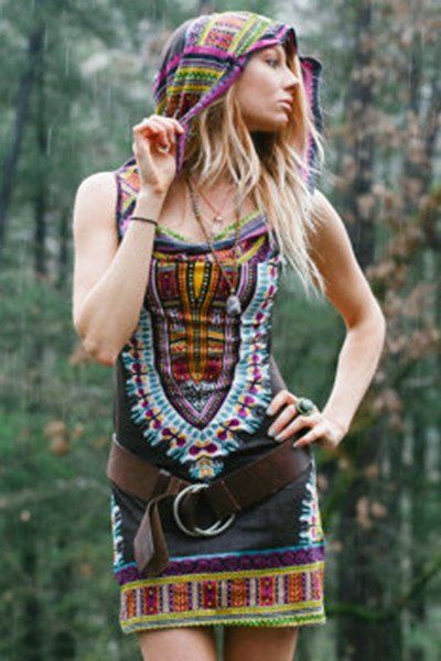Day Tripper Hooded Dress - Brown