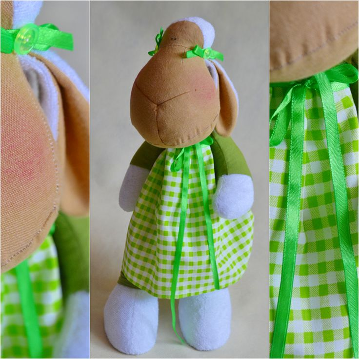 toy lamb on green