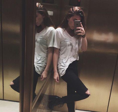 selfie espejos elevador
