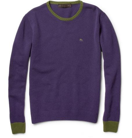 Etro Contrast-Trim Wool Sweater | MR PORTER