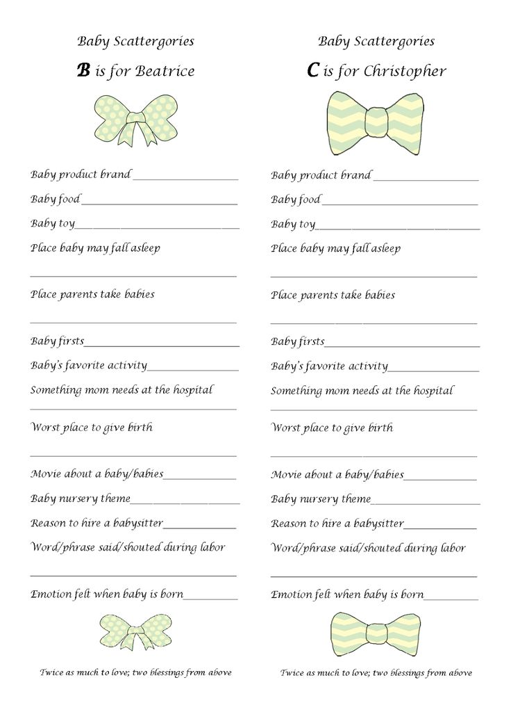 baby scattergories baby shower game free printable babyshower baby