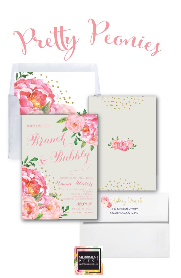 Brunch and Bubbly Invitation Calligraphy