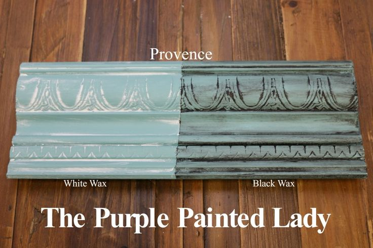 The Purple Painted Lady Provence Chalk Paint Annie Sloan Black White Wax