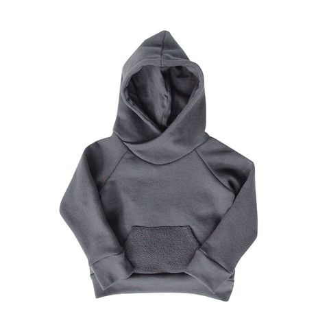 'Not So Basics' Cowl Hoody - mini mioche - organic infant clothing and kids clothes - made in Canada