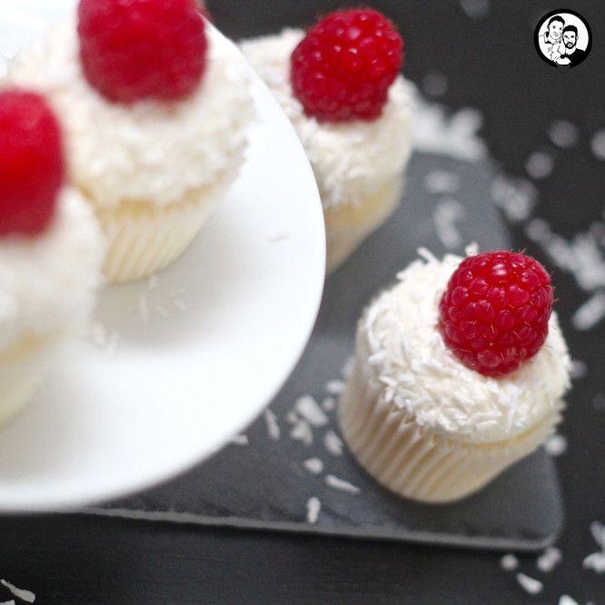 Kokos-Himbeer Cupcakes