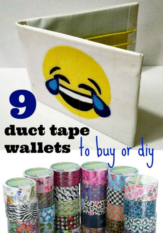 how to make a cool duct tape wallet