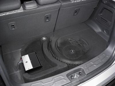 "JL Audio Stealthbox® Custom-fit fiberglass enclosure with 12"" W0v2-4 subwoofer — fits 2010-up Kia Soul $584.99"