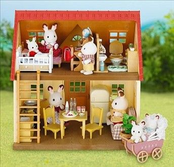 Le cosy cottage avec son set ameublement pour les #SylvanianFamilies. Par #Educationcreative