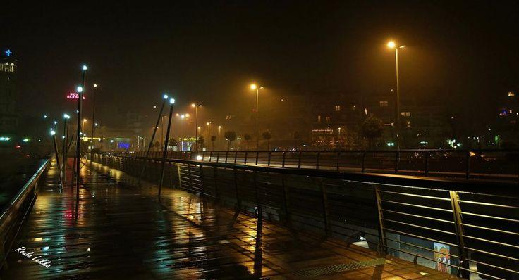 Wet bridge.... by Roula Lekka