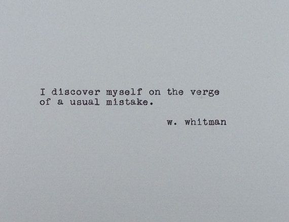 Walt Whitman  Vintage Typewriter Quote  On the by PaperHeartDaily                                                                                                                                                                                 More