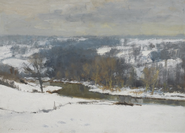 """""""Winter in the Bure Valley"""" by Edward Brian Seago, no date given"""
