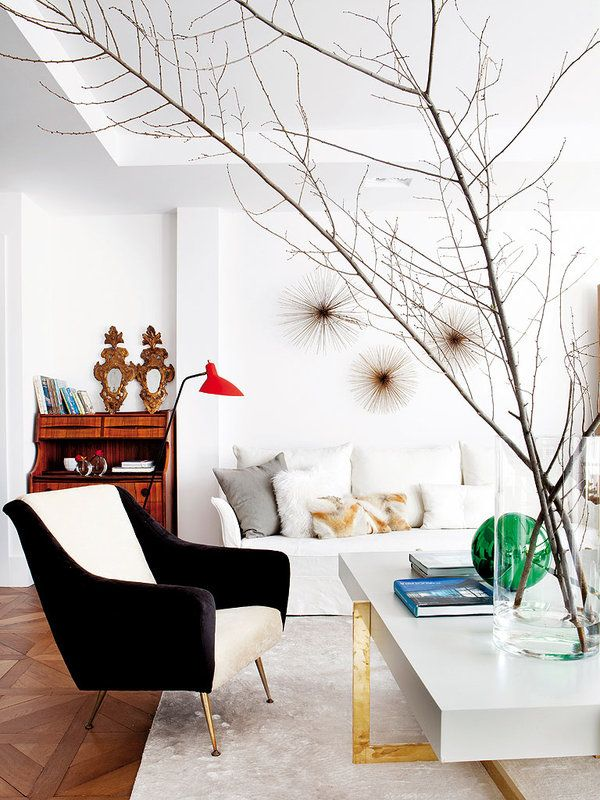 A Playful Spanish Living Room With Bold Pops Of Color Thouswell Blog