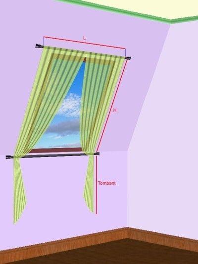 page sur la pose de rideaux de Velux, avec une info sur une tringle sans perçage