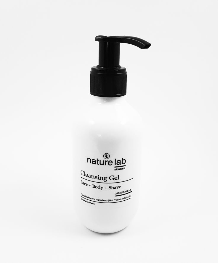 FACE + BODY + SHAVE A soothing SLS Free and Tear Free Cleansing Gel, formulated with a blend of pure natural oils and Certified Organic ingredients and Lemon Myrtle Essential Oil, that help uncl...