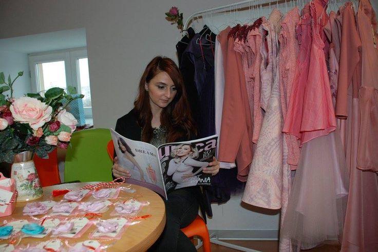 Fashion Designer at work! Atelier Laura Chiriță
