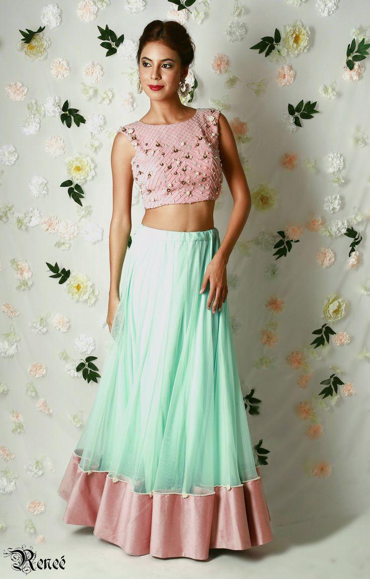 Buy indian designer lehenga online from label renee
